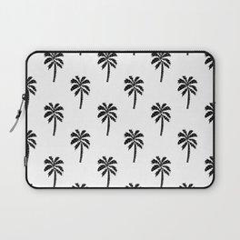 Palm Tree linocut minimal tropical black and white decor Laptop Sleeve
