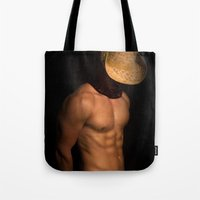 cowboy Tote Bags featuring cowboy by mark ashkenazi