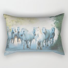 Camargue Horses ... Rectangular Pillow