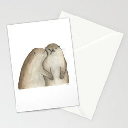I otterly love you!!! Stationery Cards