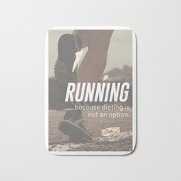 No Diet Just Running Runners Design Bath Mat