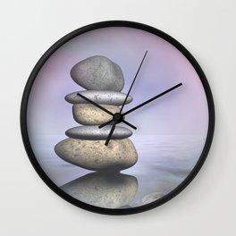 balance -3- portrait format Wall Clock