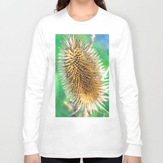 Thistle Head watercolour Long Sleeve T-shirt