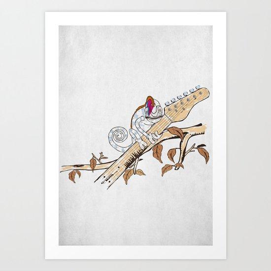 Envy - The Chameleon of Rock Art Print