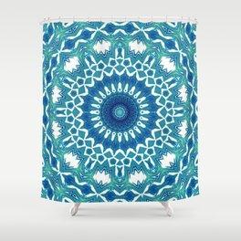 Sea Green Mandala Shower Curtain
