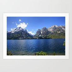Jenny Lake Deep Blue Art Print