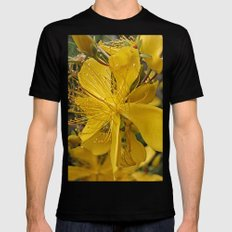 Hypericum flower closeup MEDIUM Black Mens Fitted Tee