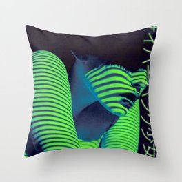 Cyberpunk Girl~サイバーパンク少女 Throw Pillow