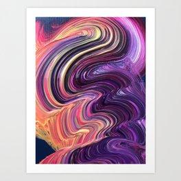 Brushstorke Art Print