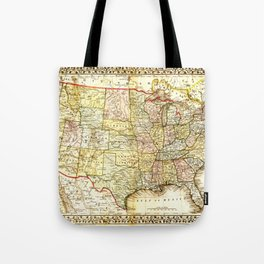 1867 USA Map Tote Bag