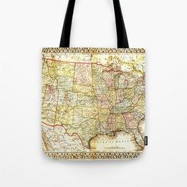 1867 USA Map Tote Bag