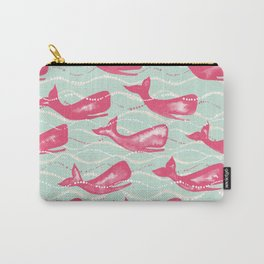 Whales in Waves Carry-All Pouch