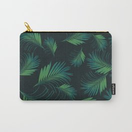 Tropical Night Palms Pattern #1 #tropical #decor #art #society6 Carry-All Pouch