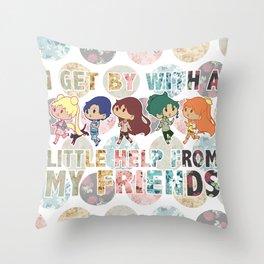 Sailor Scout Friends Throw Pillow