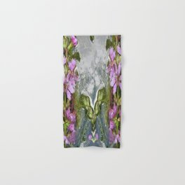 Flowers and reflections in water Hand & Bath Towel