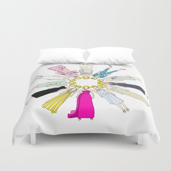 Marilyn Fashion Pink  Duvet Cover