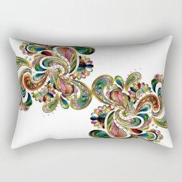 Liquid Bling Paisley Tattoo Rectangular Pillow