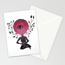 Divine Flower Woman Stationery Cards