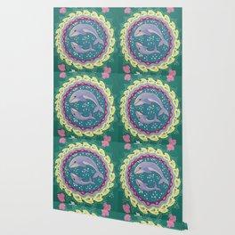 Into the Deep, Whale Mandala Wallpaper