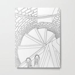 Inside London Queen's Tower - Line Art Metal Print