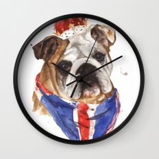 Thank you LONDON - British BULLDOG - Jubilee Art Wall Clock