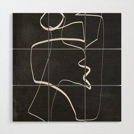 Abstract line art 6/2 Wood Wall Art