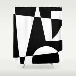 Black & White Abstract I Shower Curtain