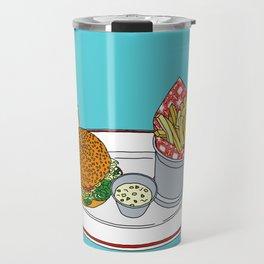 Burger, Chips and Lemonade Travel Mug