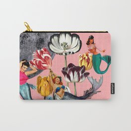 Mermaid Floral with moon Carry-All Pouch