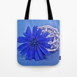 Still life with chicory flower Tote Bag