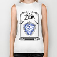 majora Biker Tanks featuring Zelda legend - Hylian shield by Art & Be