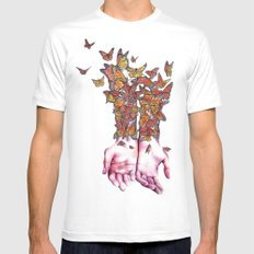 The Butterfly Project Mens Fitted Tee MEDIUM White