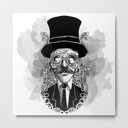 Steampunk Man Metal Print