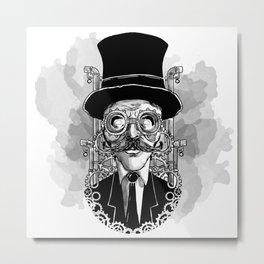 Steampunk Man Metal Print