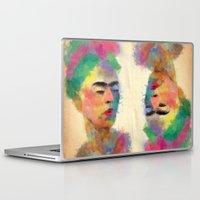 frida kahlo Laptop & iPad Skins featuring frida kahlo by vale agapi