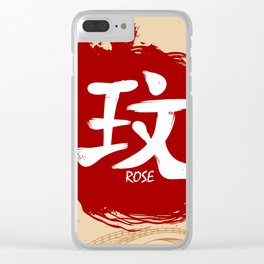 Japanese kanji - Rose Clear iPhone Case