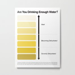 Pee Color Chart / Urine Color Chart Metal Print