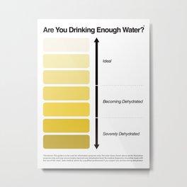 Pee Color Chart / Urine Color Chart Metal Print