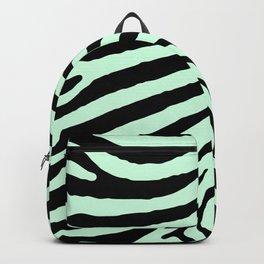 Mint Green Zebra Jungle Stripes Backpack