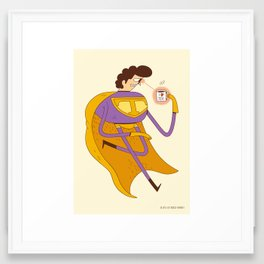 Man of Tea Framed Art Print