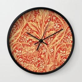 12,000pixel-500dpi - William Morris - Arcadia - Digital Remastered Edition Wall Clock