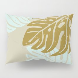 Hawaiian leaves pattern N0 3, Art Print collection, illustration original pop art graphic print Pillow Sham