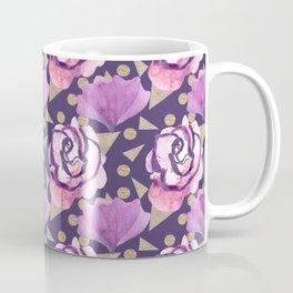Boho Florals Roses and Gold Coffee Mug