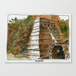 Temple of Inscriptions Canvas Print