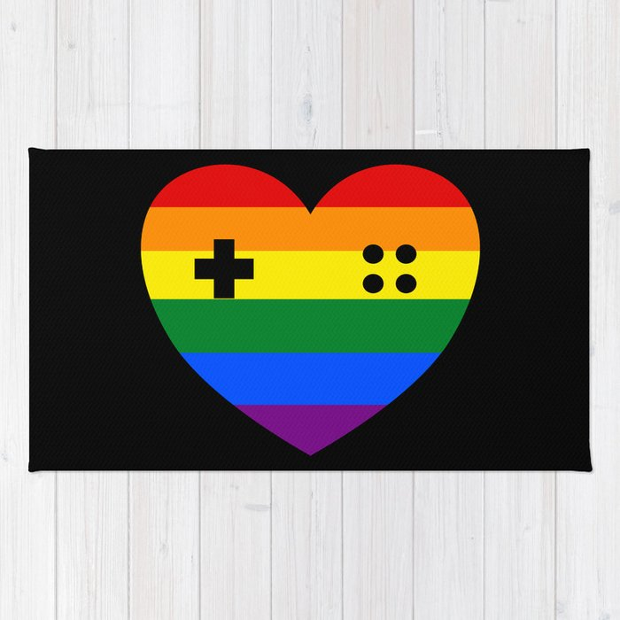 Rainbow Gamer Rug By Umeimages Society6