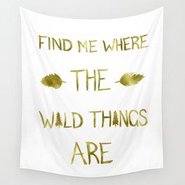 Wild Things - Gold Wall Tapestry