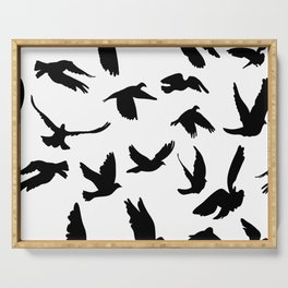 Doves and pigeons Serving Tray