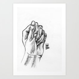 Hold Tight Art Print