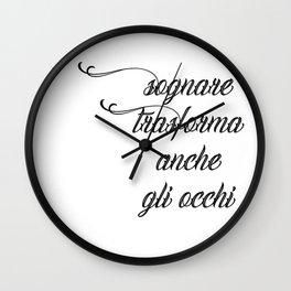 Dreaming eyes Wall Clock