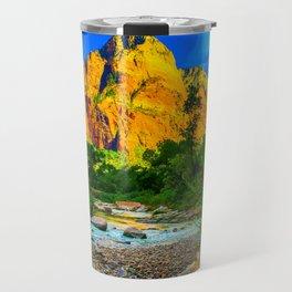 Zion National Park Virgin River Nature Print Travel Mug